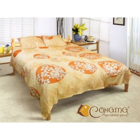 Двуспальный Евро комплект постельного белья Вероника