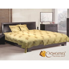 Двуспальный Евро комплект постельного белья Ветка сакуры