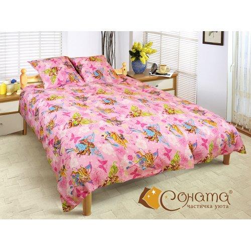 Полуторный комплект постельного белья Винкс