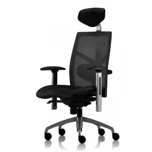 Кресло офисное Exact black fabric, black mesh