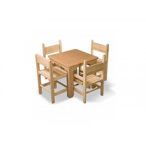 Детский стол и стул сосновый Baby-4