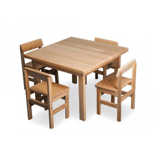 Детский стол и стул буковый Baby-4