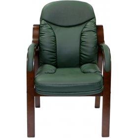 Конференц кресло CA1316C зеленое-орех