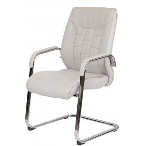 Конференц кресло F340 Italia светло-серое