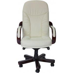 Кресло руководителя CA1316A белое-махонь