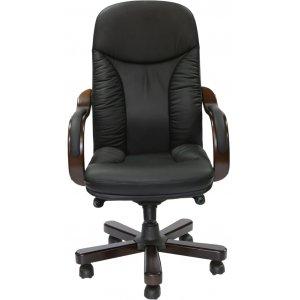 Кресло руководителя CA1316A черное-орех