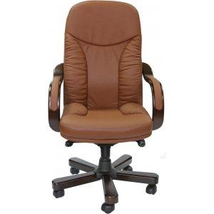 Кресло руководителя CA1316A кожа delux, коричневое