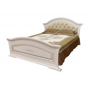 Кровать Николь патина 160х200 с мягким быльцем
