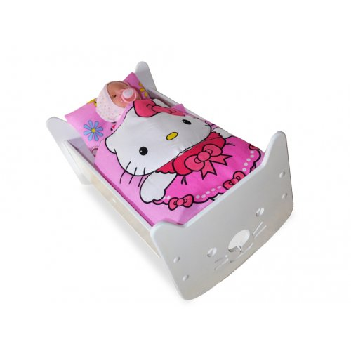 Кукольная кроватка 2 в 1 Hello Kitty белая