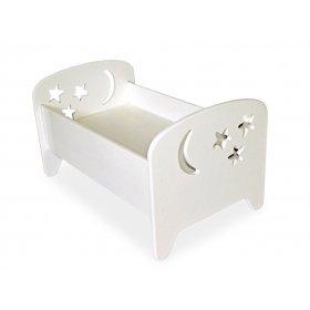 Кукольная кроватка 2 в 1 Сладкий сон белая