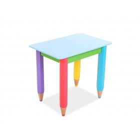 Столик Карандашики 60х40 голубая столешница