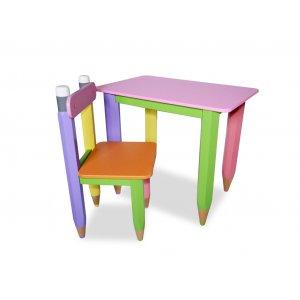 Детский комплект стол + стул Карандашики