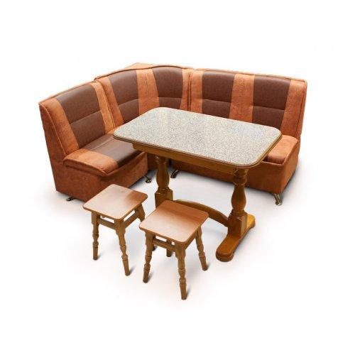 Комплект кухонный уголок ТИС + раскладной стол Элегант + 2 табурета