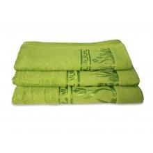 Махровое полотенце Португалия 40х75 Tulips зеленый
