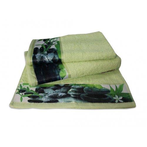 Махровое полотенце Романтика 35х70 Релакс св-зеленый