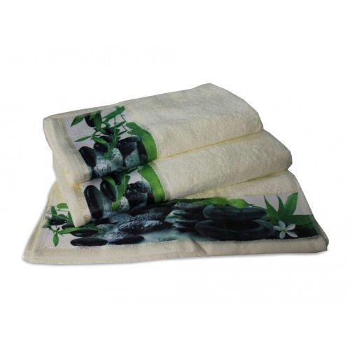 Махровое полотенце Романтика 35х70 Релакс молочный