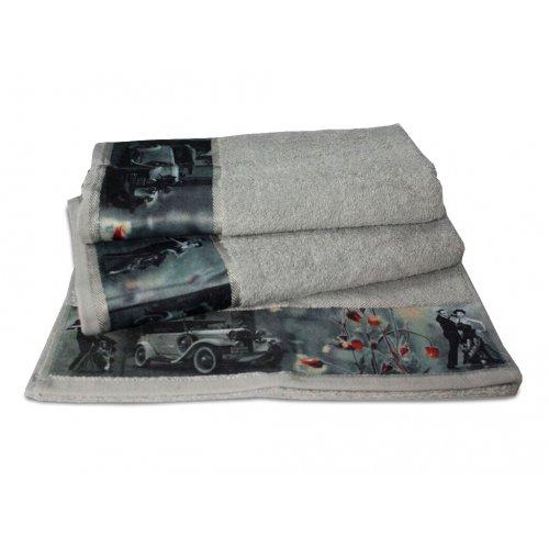 Махровое полотенце Романтика 35х70 Ретро серебро