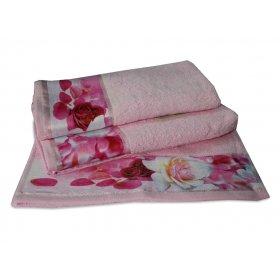 Махровое полотенце Романтика 35х70 Нежность розовый