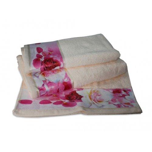 Махровое полотенце Романтика 35х70 Нежность крем-брюле
