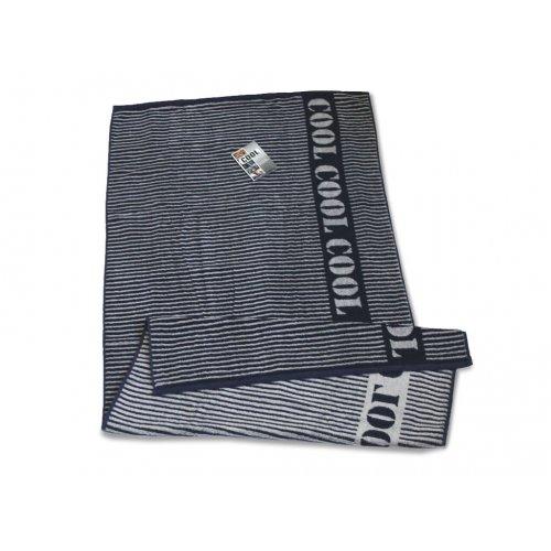 Махровое полотенце 50х90 Cool Lines синий