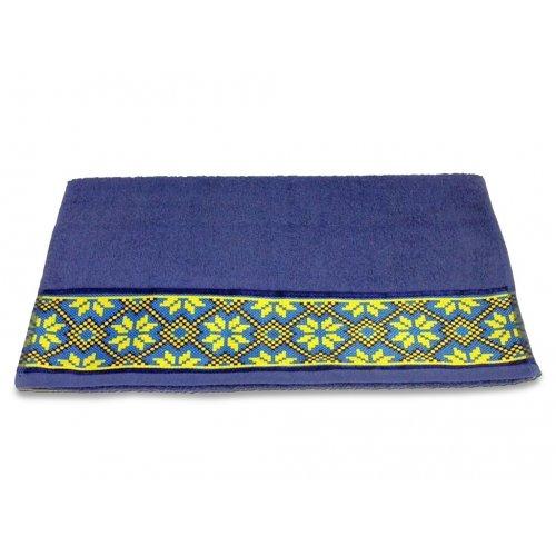 Махровое полотенце 50х90 Магия комфорта Обериг голубой