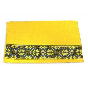 Махровое полотенце 35х70 Магия комфорта Обериг желтый