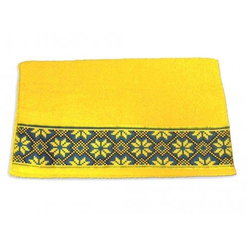 Махровое полотенце 50х90 Магия комфорта Обериг желтый