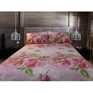 Полуторный комплект постельного белья Розовые розы