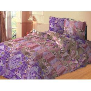 Полуторный комплект постельного белья Печворк
