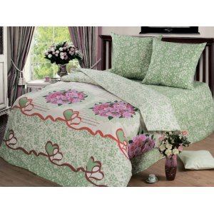 Полуторный комплект постельного белья Оливия