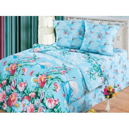 Двуспальный комплект постельного белья Лебеди