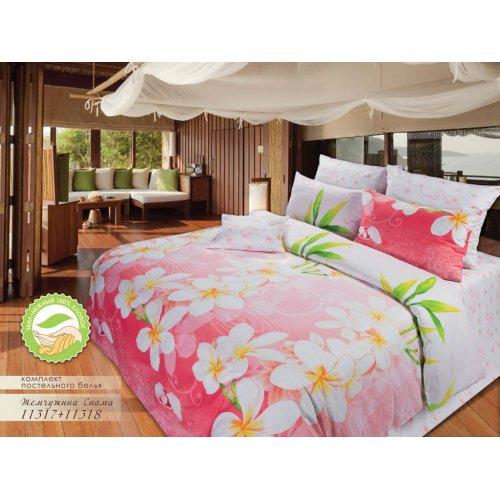 Полуторный комплект постельного белья Жемчужина Сиама