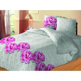 Комплект постельного белья Пионы евро
