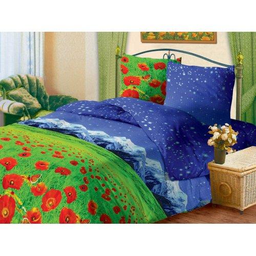 Полуторный комплект постельного белья Маки