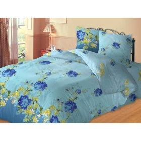 Двуспальный комплект постельного белья Индиго
