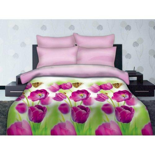 Полуторный комплект постельного белья Бабочка