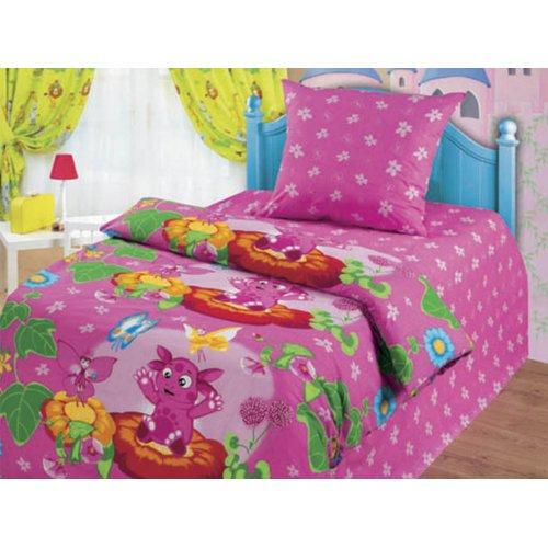 Полуторный детский комплект постельного белья Лунтик Лунтик и бабочки
