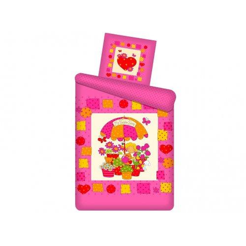 Полуторный детский комплект постельного белья Непоседа панно Цветочный магазин