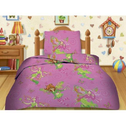 Полуторный детский комплект постельного белья Кошки-мышки Феечки