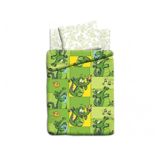 Полуторный детский комплект постельного белья Крокодильчик Свомпи
