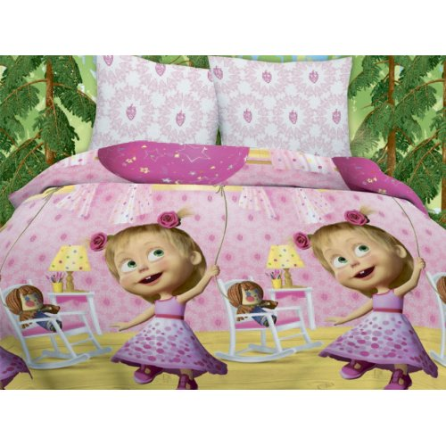 Детское постельное Маша и Медведь День рождения