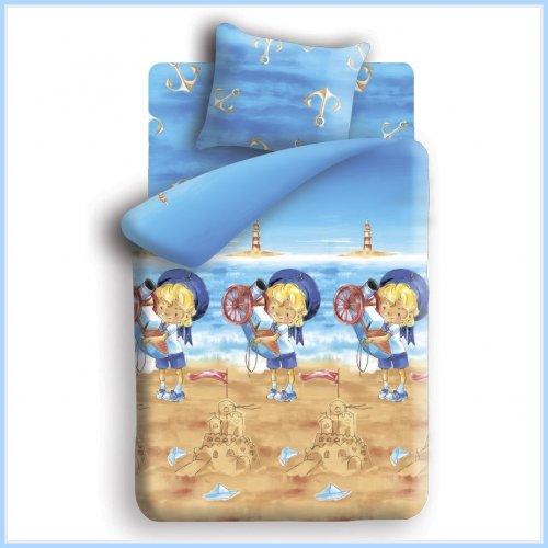 Полуторный комплект постельного белья Морячок
