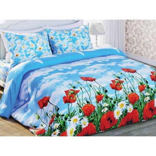 Полуторный комплект постельного белья Солнечные маки
