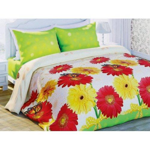Двуспальный-евро комплект постельного белья Изящная гербера