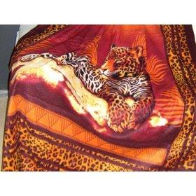 Плед флис 150х200 Любимый дом Леопард