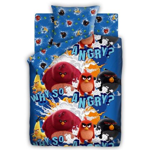 Полуторный комплект постельного белья Angry Birds Злые птички