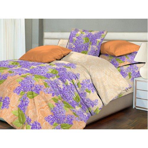 Двуспальный-евро комплект постельного белья Сиреневое королевство