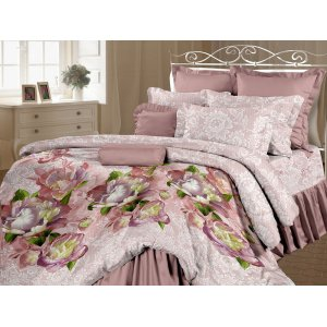 Полуторный комплект постельного белья Карнелия наволочки 50х70
