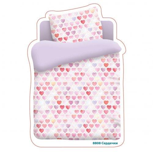 Детский комплект постельного белья Сердечки