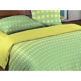 Полуторный комплект постельного белья Dot Green